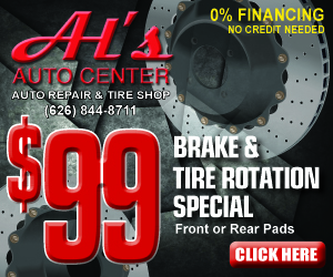 $99 Brake and tire rotation special