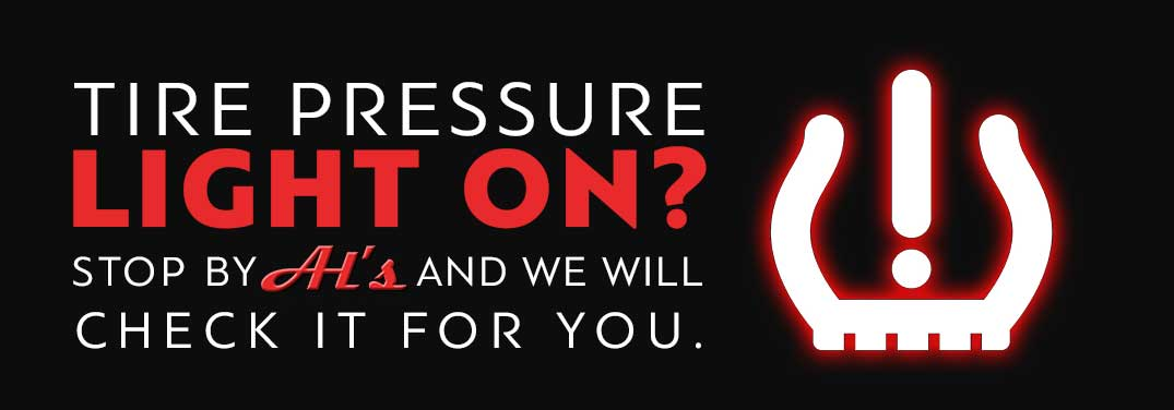 Is your tire pressure light on? We will check it for you.